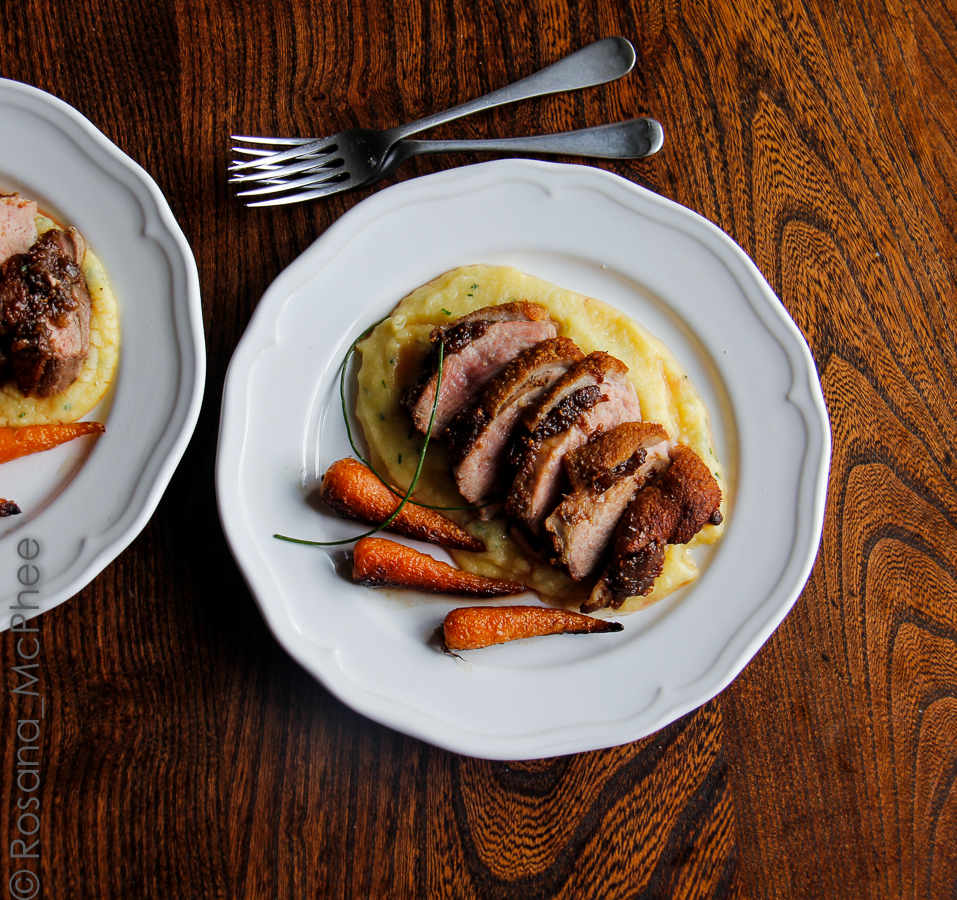 Duck breast with figs