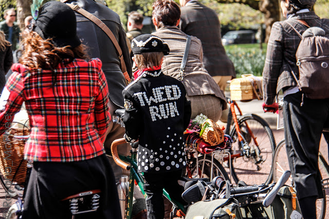Tweed Run, a stylish bicycle ride in London