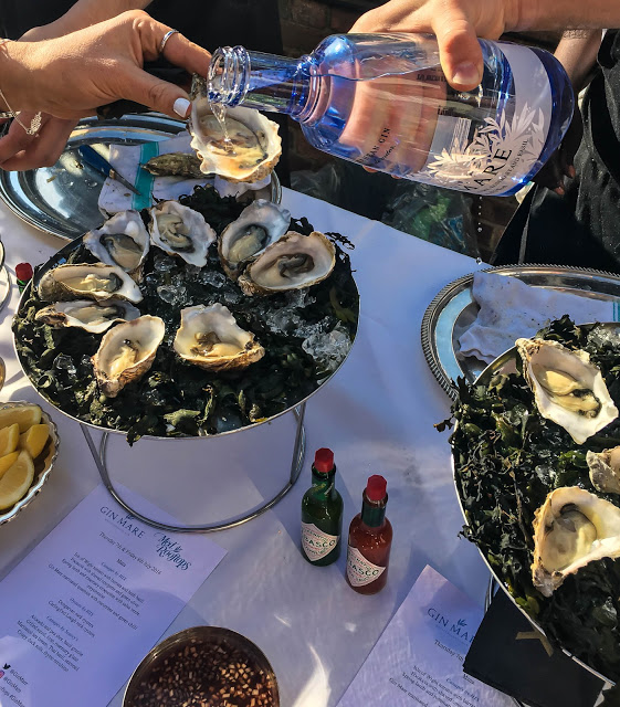 Gin Mare and Oysters