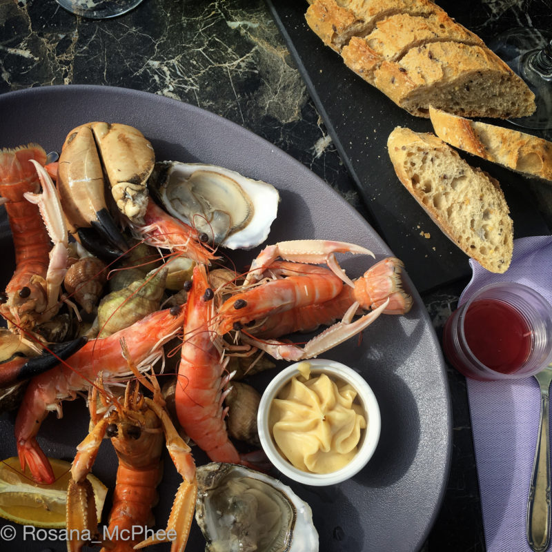 seafood in Normandy, Granville, fishing port