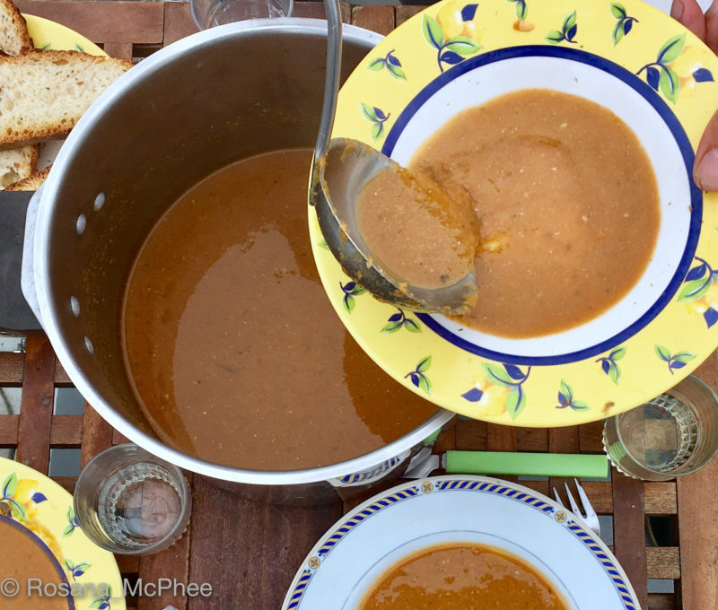 fish soup,Island hopping, Chausey archipelago, Voidie Voile, Normandy