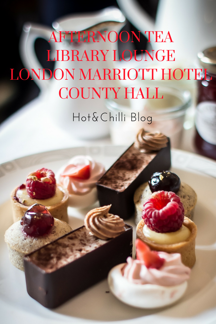 Afternoon Tea at the Library Lounge, London Marriott Hotel County Hall