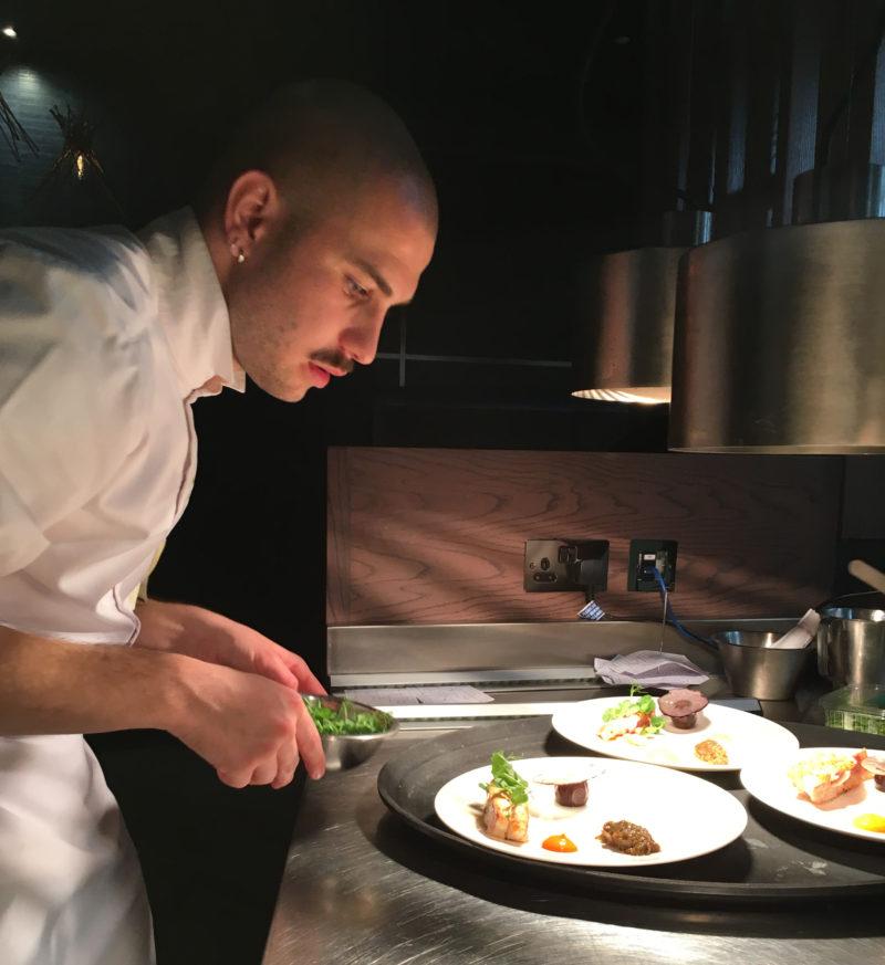 Chef Guillaume Dunos of La Ferme